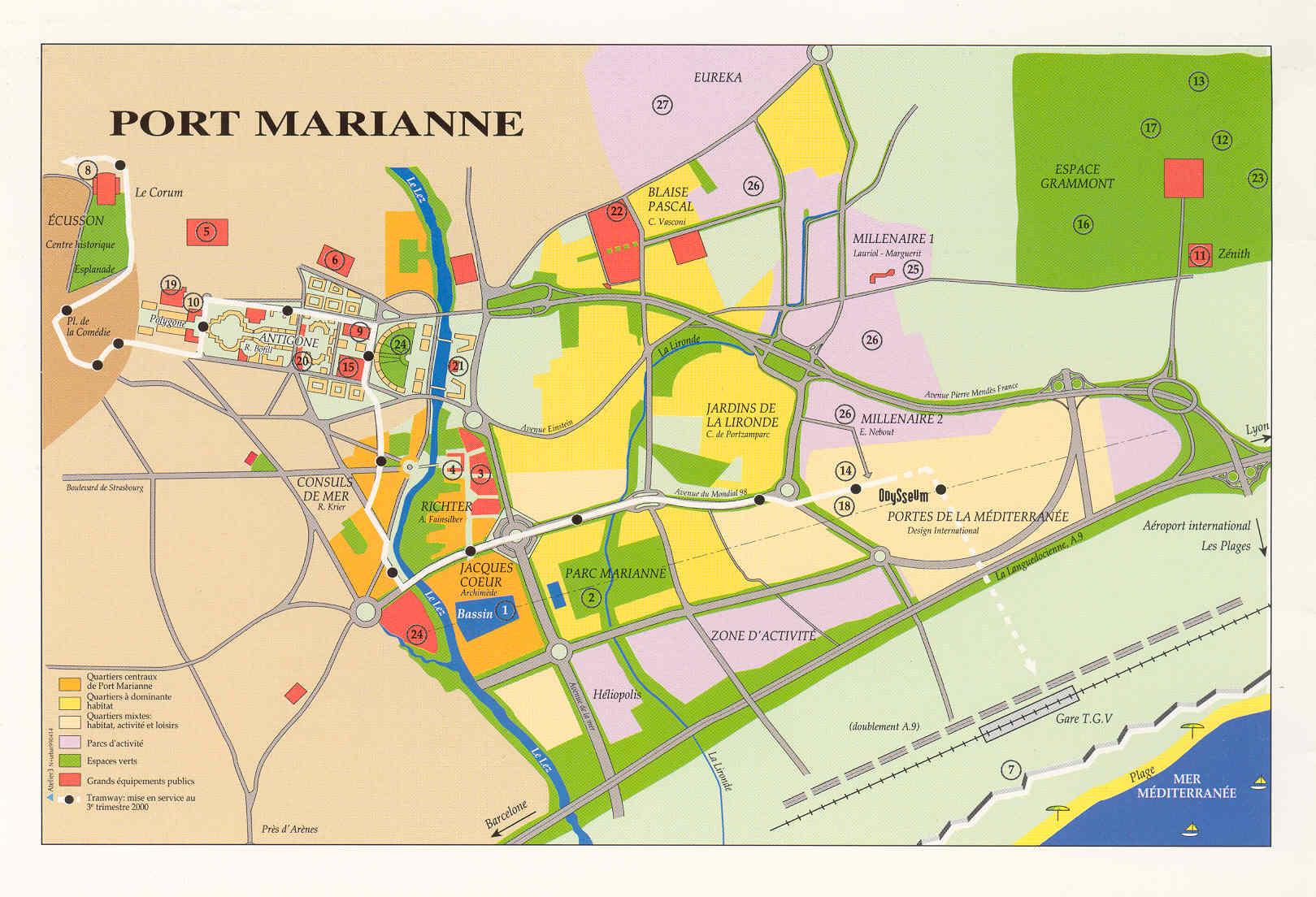 Stadtentwicklungspolitik montpellier - Horaire poste montpellier port marianne ...